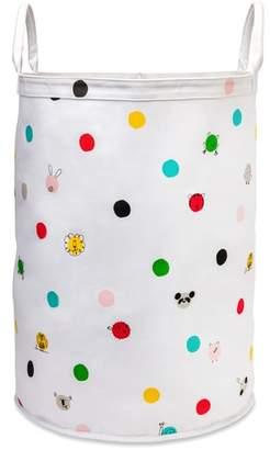 Kate Spade animal dots large canvas bin