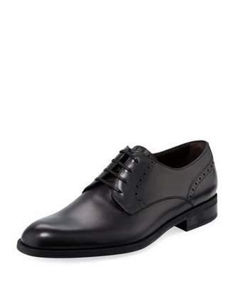 Ermenegildo Zegna Plain-Toe Leather Derby Shoe