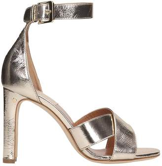 Laurence Dacade Platinum Leather Sandals