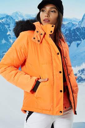 Forever 21 Active Faux Fur Puffer Jacket