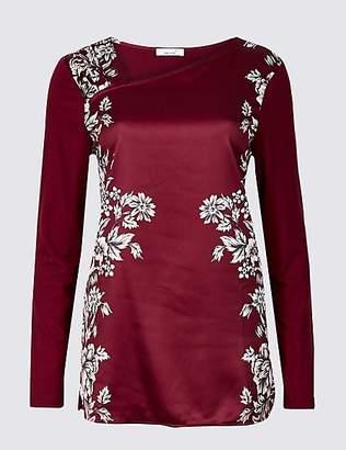 Per Una Floral Print Long Sleeve Tunic