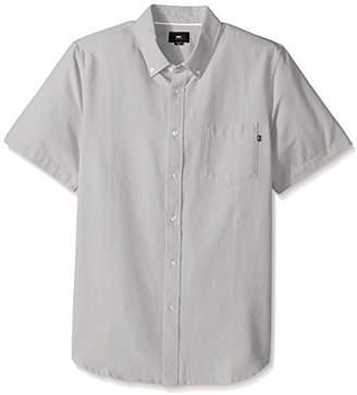 Obey Men's Dissent Ii Woven Short Sleeve Shirt