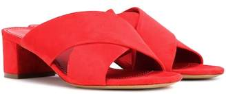 Mansur Gavriel 40mm Crossover suede sandals