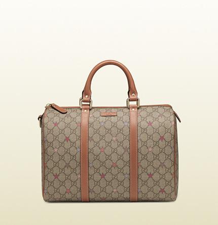 Gucci joy GG supreme stars canvas boston bag