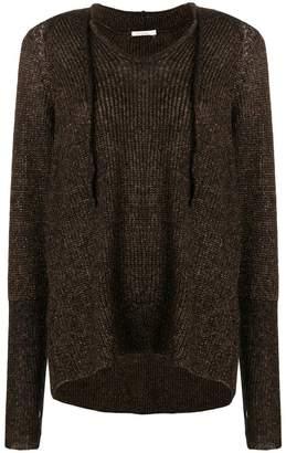 Mes Demoiselles knitted hoodie