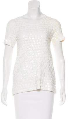 Burberry Sequin Short Sleeve Top w/ Tags