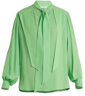 Balenciaga Gathered Blouse - Womens - Green
