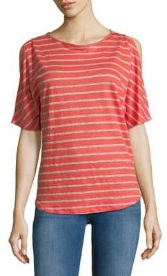 Tommy Bahama Striped Cold Shoulder Tee