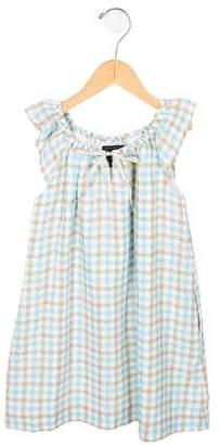 Oscar de la Renta Girls' Plaid Scoop Neck Dress