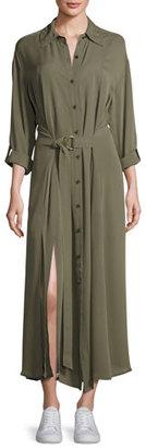 Diane von Furstenberg Clarise Belted Silk Jersey Shirtdress $498 thestylecure.com