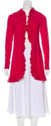 Magaschoni Cashmere Ruffle-Accented Cardigan