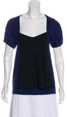 Marc by Marc Jacobs Wool-Blend Colorblock Top
