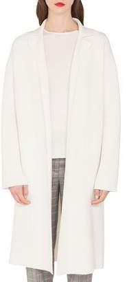 Akris Cashmere Pique Open Front Duster Coat