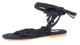 Donsje Girls' Suede Gladiator Sandals