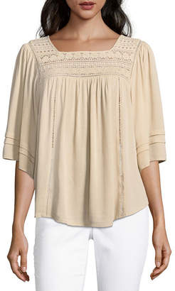 John Paul Richard JOHNPAULRICHARD 3/4 Sleeve Crepon Blouse