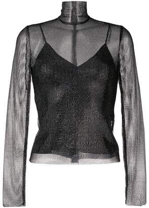 Ermanno Scervino crystal mesh top