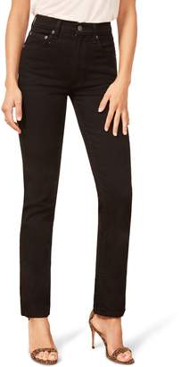 Reformation Liza High Waist Straight Leg Jeans