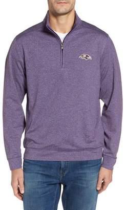 Cutter & Buck Shoreline - Baltimore Ravens Half Zip Pullover