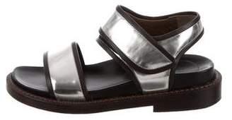 Marni Metallic Ankle Strap Sandals