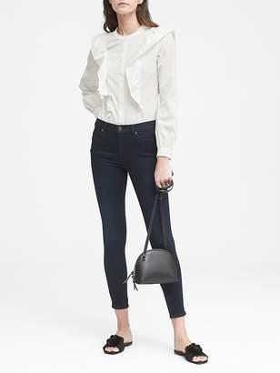 Banana Republic High-Rise Legging-Fit Luxe Sculpt Dark Wash Ankle Jean