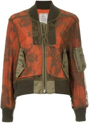 Puma Maison Yasuhiro lace overlay bomber jacket