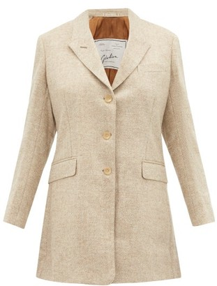 Giuliva Heritage Collection The Karen Single Breasted Wool Blazer - Womens - Cream