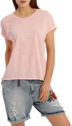 Only Shiny Short Sleeve O-Neck Top