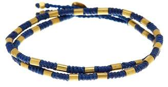 LINK-UP Waxed Navy Cord Antique Bead Bracelet