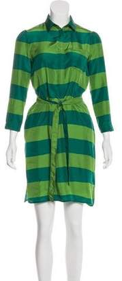 Burberry Silk Striped Shirtdress