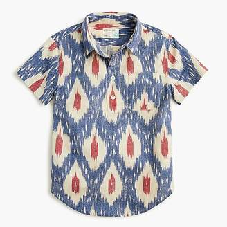 J.Crew Boys' short-sleeve popover shirt in ikat