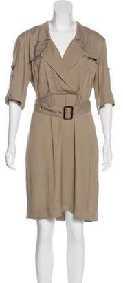 Burberry Belted Knee-Length Dress