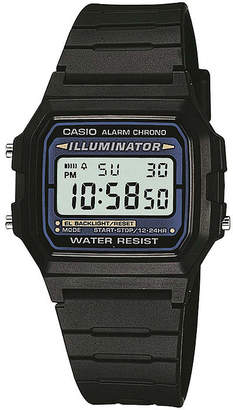 Casio Illuminator Mens Square Black Resin Strap Digital Sport Watch F105W-1OS