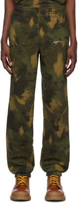 Off-White Green Paintbrush Camo Lounge Pants