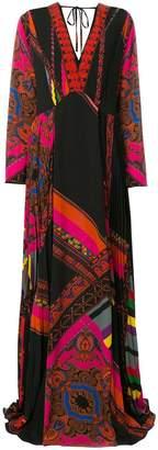 Etro deep-V maxi dress