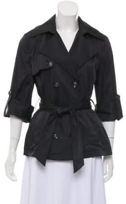 Jocelyn Belted Notched-Lapel Jacket