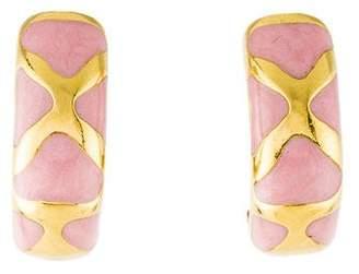 Roberto Coin 18K Enamel Convertible Clip-On Earrings