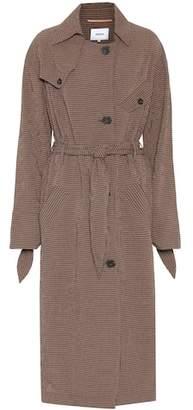 Nanushka Noir checked trench coat