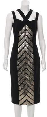 Michael Kors Embellished Wool Dress Black Embellished Wool Dress
