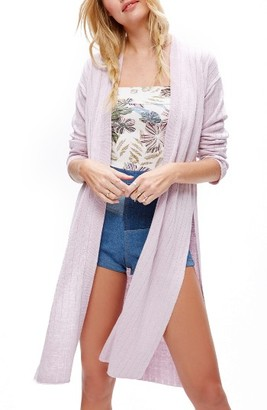 Women's Free People Ribby Long Cardigan $78 thestylecure.com