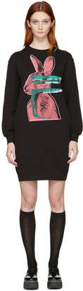 McQ Alexander Mcqueen Black Glitch Bunny Classic Dress $295 thestylecure.com