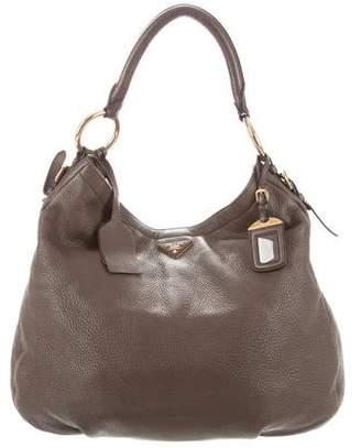 fd7508e5f668 Prada Side Zip Leather Bag - ShopStyle