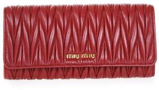 Miu Miu Continental Quilted Leather Wallet