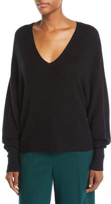 Eileen Fisher V-Neck Long-Sleeve Merino Wool Sweater