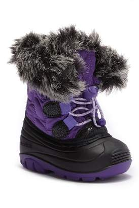 Kamik Lychee Faux Fur Trimmed Waterproof Winter Boot (Toddler)