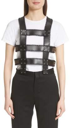 Noir Kei Ninomiya Faux Leather Harness Top