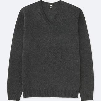 Uniqlo Men's Premium Lambswool V-Neck Long-sleeve Sweater