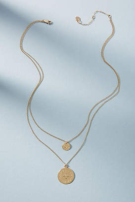 Tess + Tricia Coin Duo Layered Necklace