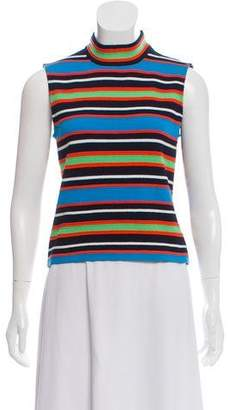 St. John Sport Striped Wool Top