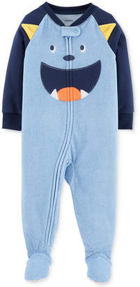 Carter's Baby Boys Monster Face Footed Fleece Pajamas