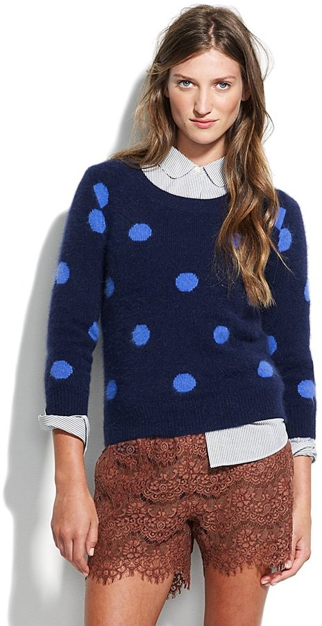 Spotted snowfall sweater
